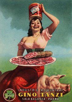 By Gino Boccasile (1901-1952), Gino Tanzi. Now thatsa Italian!