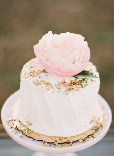 REVEL: Blush + Gold Wedding Cake
