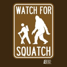 Finding+Bigfoot+Watch+For+Squatch+Youth+T-Shirt+-+Coffee
