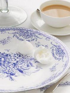 Large Vintage Blue Plate