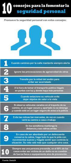 10 Consejos para fomentar l seguridad personal.