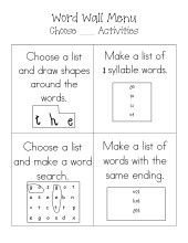 Word Wall - word work classroom-ideas-reading-writing