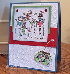 a flaky Christmas by cookiestamper - Cards and Paper Crafts at Splitcoaststampers