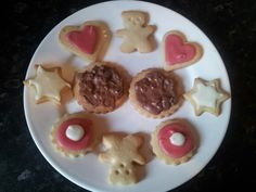 Iced, plain and daim chocolate biscuits