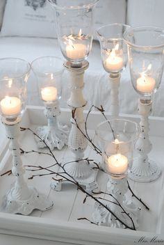Beautiful white candles