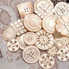 We've seen lots of vintage buttons but something about mother of pearl carved buttons always takes our breath away.