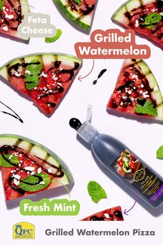 Looking for a fresh, sweet treat? Look no further than Grilled 🍉 Pizza with mint, feta cheese and a Balsamic Glaze drizzle. Be sure to add mouthwatering produce to your next pickup order from Kroger. Watermelon Pizza, Grilled Watermelon, Summer Fruit, Summer Salads, Seafood Shop, Light Summer Meals, Meat Shop, Fruit Shop, Grilled Pizza