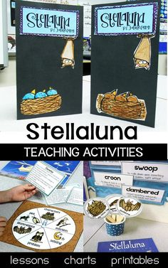 Stellaluna is a teacher's dream! This book lends itself perfectly to so many skills. This complete unit for first and second grade includes fun story activities, anchor charts literacy games, lesson plans and graphic organizers for sequencing, writing, story elements, word work, fluency, comprehension, and character analysis.  Your students will love the culminating foldable lapbook , too!
