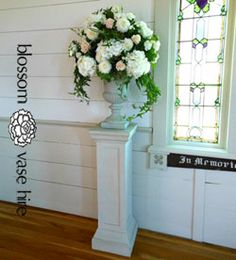 Wedding Stone Look Pedestal Blossom Wedding Flowers Auckland Vase Prop and Decor Hire