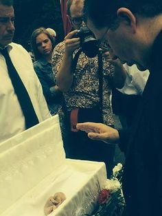 Warning – this will cause tears and heartbreak  During a funeral in New Orleans, Father Pavone blesses the body of an unborn child killed by abortion.  Eternal rest grant unto this soul, and let perpetual light shine upon it, Amen.   Activity | Awestruck Catholic Social Network