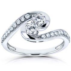 034-Two-034-Stone-Diamond-Ring-1-2-CTW-in-14k-White-Gold