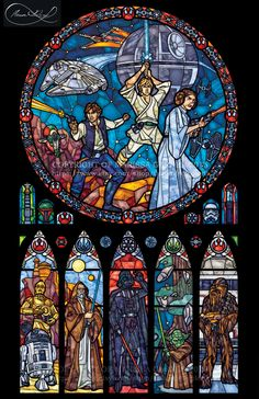 Full Size Star Wars: Classic - Transparency Stained Glass Print by Shards of Color