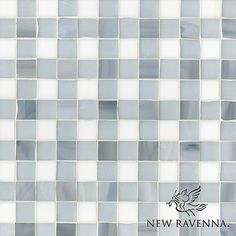 Gingham Patterned Tile | New Ravenna   Pearl moonstone and opal marble