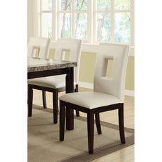 Poundex Dining Chair Faux Leather