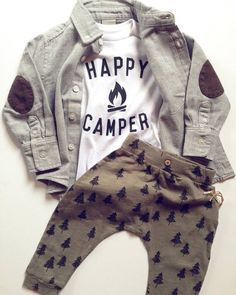 Happy Camper Baby outfit up to See more children's clothes at // Deux Par Deux // kids clothes // kid style // fashion for kids Baby Outfits, Little Boy Outfits, Dress Outfits, Summer Outfits, Happy Campers, Baby Boy Fashion, Kids Fashion, Style Fashion, Fashion Clothes