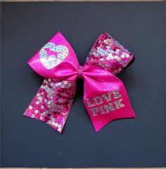 Love Pink Cheer Bow Inspired By Victoria by SportingPrideBows