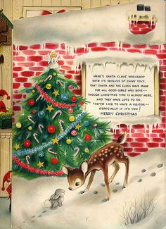 Vintage Advent Calendar image for Christmas Garland Along