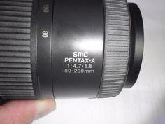 objetiva pentax smc pentax-a 1:4.7-5.6 80~200mm ultima