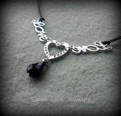 Joy Peace & Love Necklace on Tophatter.com!
