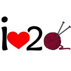 i heart 2 knit Bumper Stickers