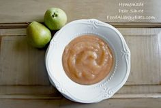 Slow Cooker Homemade Pear Sauce -- Just three ingredients -- pears, water, and cinnamon.