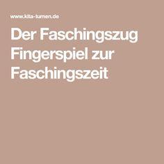 Der Faschingszug Fingerspiel zur Faschingszeit