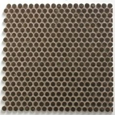 Style Selections 5 Pack Bronze Penny Round Mosaic Porcelain Wall Tile Common 11 In X 13 Actual 12 75 Tiles Mosaics And