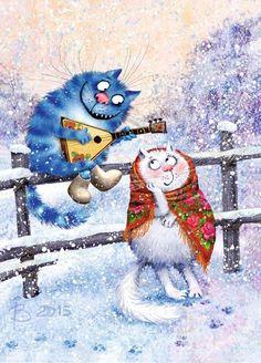 Рина Зенюк_cute Illustrations_cats