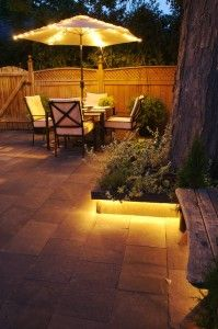 Make The Planter Beds With A Lip On Them For Rope Lighting Which Is Hidden  Underneath