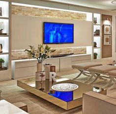 Sala de TV por Rampazzo & Pretti Projetos #tvlounge #homedecor #living #decoração #paineltv