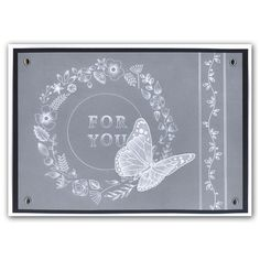 Butterfly Wreath and Border Pattern