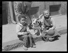 Leslie Jones - two kids with dog