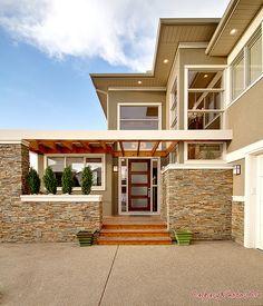 Modern craftsman style home.