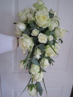 Brides Shower/Cascading Bouquet - Florist Shrewsbury