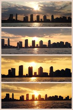 Sunset at Battery Park in New York // @thavrena