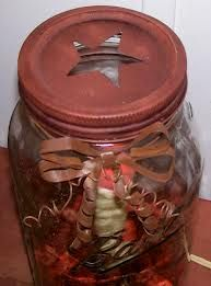 OMG do this with our potpourri, paint the lid maybe and tie a bow around it? So cute!