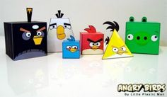 Angry Birds: Free Printable Boxes.