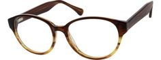 Women's Brown 6351 Acetate Full-Rim Frame with Spring Hinges | Zenni Optical Glasses-5eqPuJZz