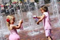 Instead of buying water guns that break and leak easily, have the kids use cheap spray bottles