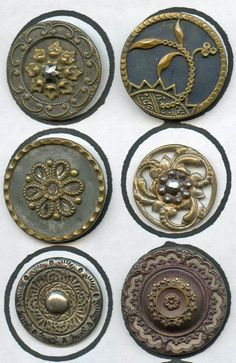 6+antique+ornate+metal+buttons