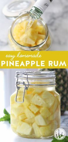 Add a tropical touch to your cocktails. Learn how #easy it is to make Homemade Pineapple Rum or Vodka