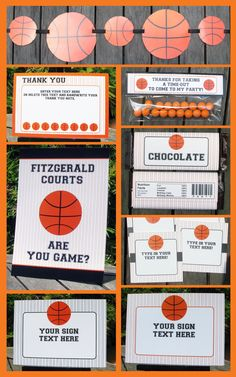 BASKETBALL Ticket Invitation & Printable Party Collection  - you personalize at home with Adobe Reader. Instant Download!