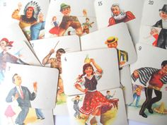 Vintage game cards: ephemera pack of 20 by PinkFlamingoEphemera