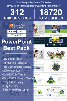 Best Pack PowerPoint TemplateBest Pack has 312 unique slides of content with many sections (business model, Section, Silhouette Infographic, Stage Diagram, Professional Powerpoint Presentation, Business Presentation, Creative Powerpoint Templates, Powerpoint Presentation Templates, Digital Marketing Plan, Healthy Halloween Snacks, Power Points, Data Charts, Company Profile
