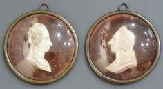Pair of Ivory Portrait Roundels : The British Antique Dealers' Association