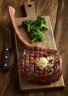 Tomahawk Steak, serve rare with a self cook block ! Shareable, maybe even add ciabatta & self cook steak SW Restaurant Specials, Restaurant Deals, Seared Salmon Recipes, Pan Seared Salmon, Beef Recipes, Cooking Recipes, Tomato Cream Sauces, Perfect Steak, Steaks