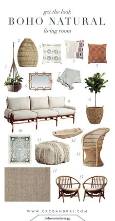 Boho neutral living room moodboard #living #moodboard #neutral