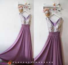 Purple Prom DressLong Sequin Sexy Prom Dress by FashionStreets
