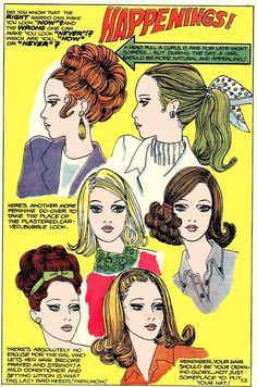 Mod hair illustrations, 1967.
