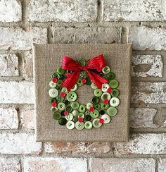 cool Christmas burlap button wreath art by www.dana-home-dec. - Home Decors - awesome cool Christmas burlap button wreath art by www.dana-home-dec…… by www.danazhomedeco… I - Diy Christmas Decorations Easy, Easy Christmas Crafts, Noel Christmas, Christmas Projects, Simple Christmas, Christmas Wreaths, Christmas Gifts, Christmas Ornaments, Christmas Crafts To Sell Bazaars